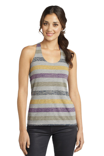 District® - Juniors Reverse Striped Scrunched Back Tank. DT229
