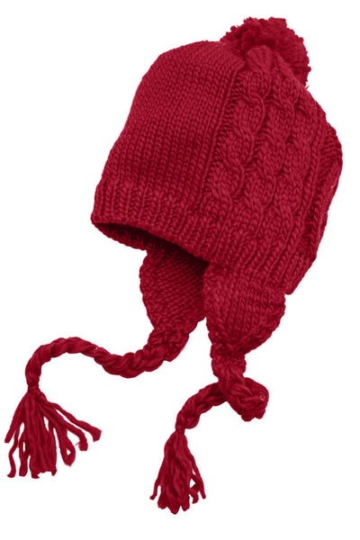 District® - Cabled Beanie with Pom DT617