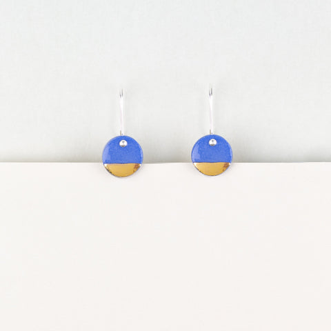 Denim Spots Earrings