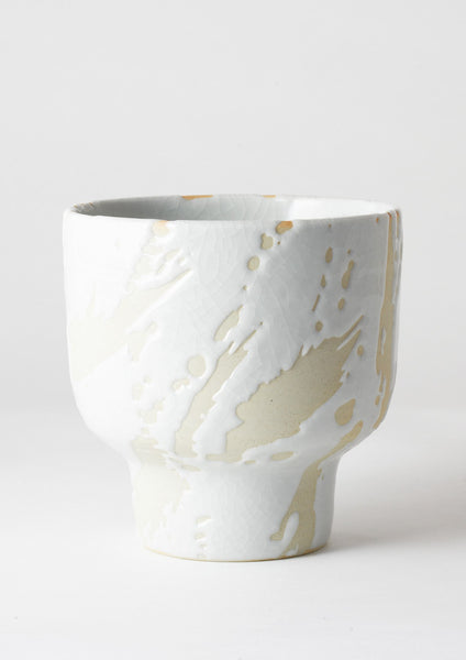 Riverstone Plant Pot White Splash