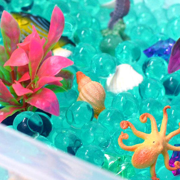 Ocean Exploration Discovery Box sensory bin for kids