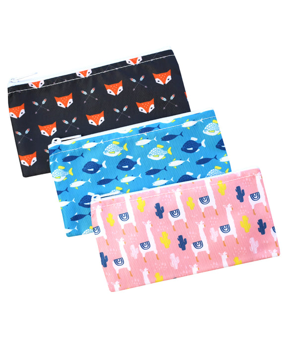 Revelae Kids cloth snack bag Critter set with lamas, fish and Sherwood foxes