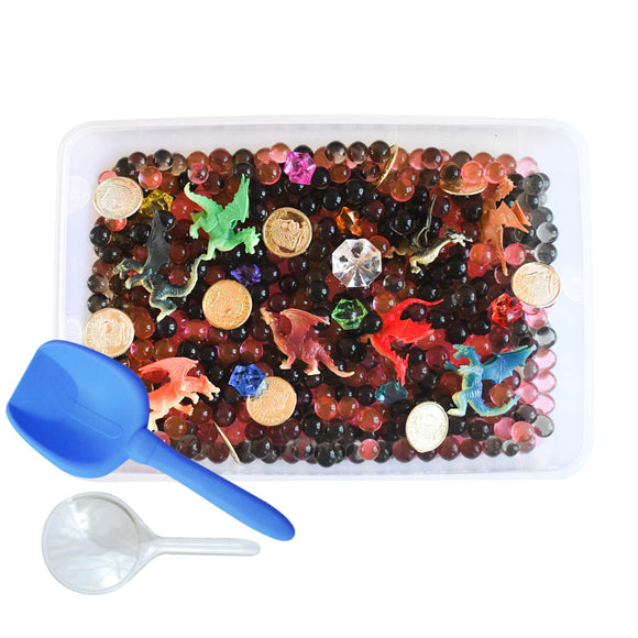 Dragon's Treasure Discovery Box Sensory Bin by Revelae Kids