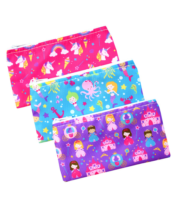 Revelae Kids cloth snack bags mermaid unicorn princess set - Yummi Pouch