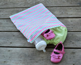 Sweet Chevron wet and dry bag for diapers and clothes