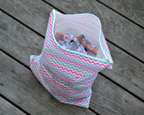 Sweet Chevron Everything wet and dry bag by Revelae Kids