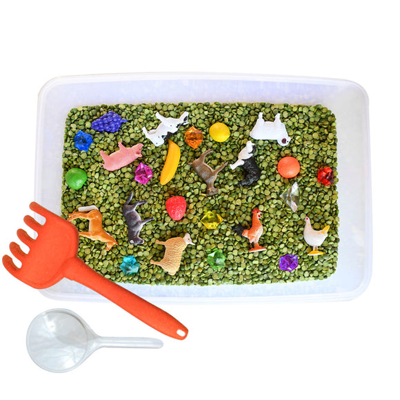 Farm Discovery Box sensory bin by Revelae Kids