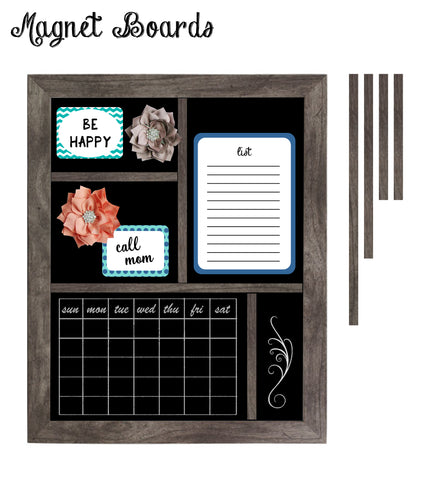 Divided Magnetic Organizer Boards for Wet Erase Chalk Markers