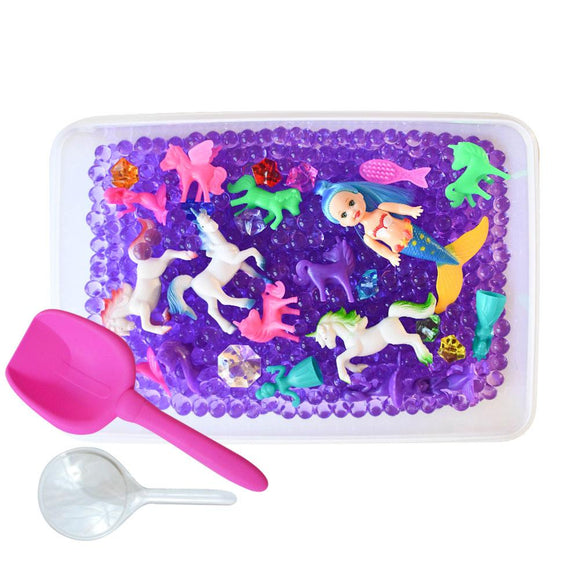Unicorns & Mermaids Discovery Box Sensory Bin by Revelae Kids