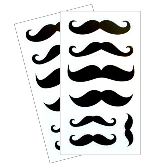 Mustache Dishwasher Safe Stickers - 2 sheets