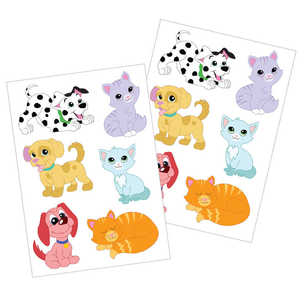 Cats and Dogs Dishwasher Safe Stickers