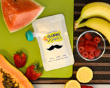 Mustache Dishwasher Safe Stickers for reusable food pouches