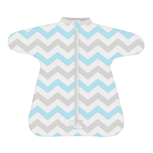 Enclosed Cozy Baby Sleeper - Spunky Chevron