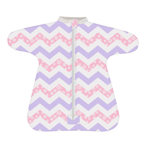 Enclosed Cozy Baby Sleeper - Sweet Chevron