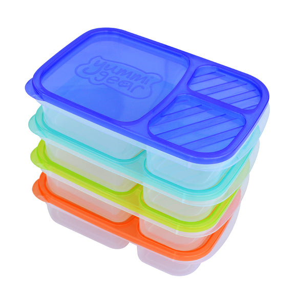 Yummi Gear divided lunch boxes and easy open lids