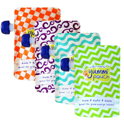Yummi Pouch Brights Reusable Food Pouches (Set of 4)