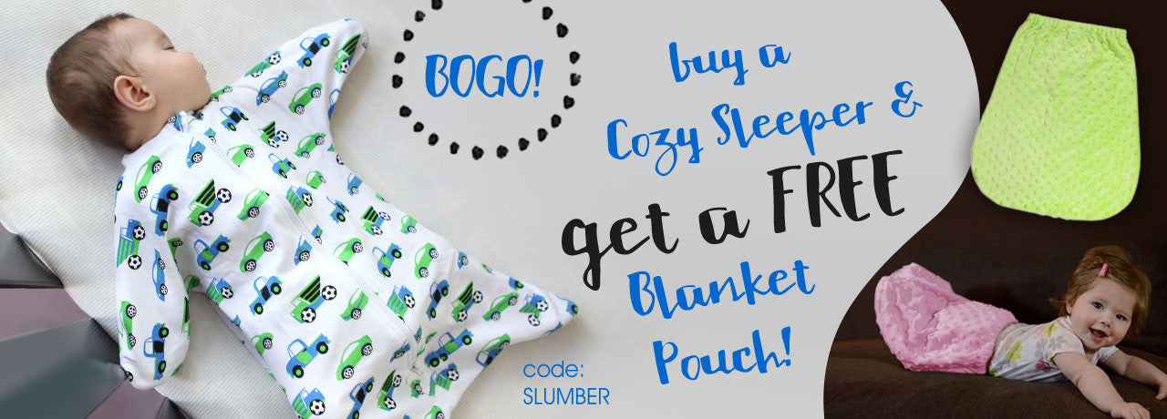 Buy a Cozy Sleeper and a get a free Blanket Pouch
