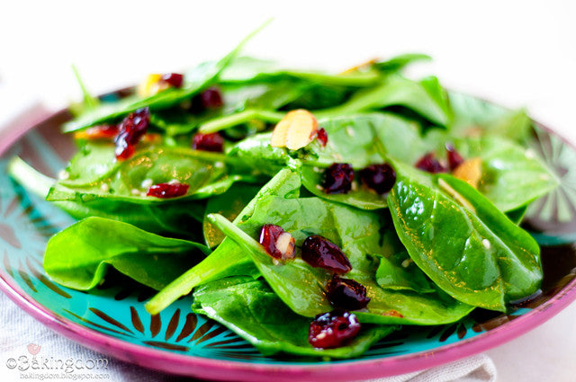 WINTER GINGER SPINACH SALAD