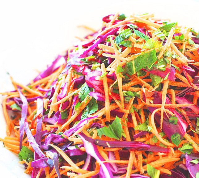 EUROPEAN OR ASIAN SALAD: RED CABBAGE SLAW