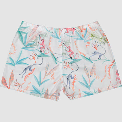 Womens Boxer Shorts Monkeys - Woodstock Laundry