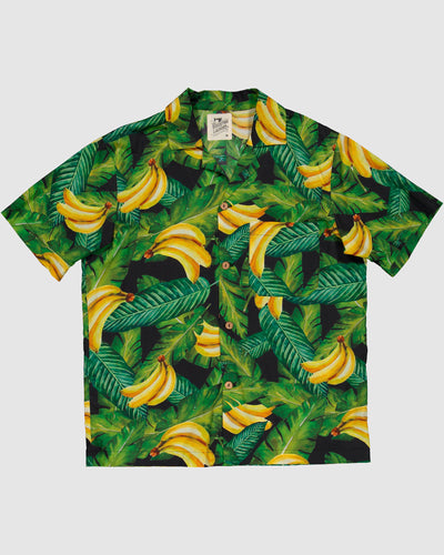 Mens Short Pyjamas Bananas on Leaves - Woodstock Laundry