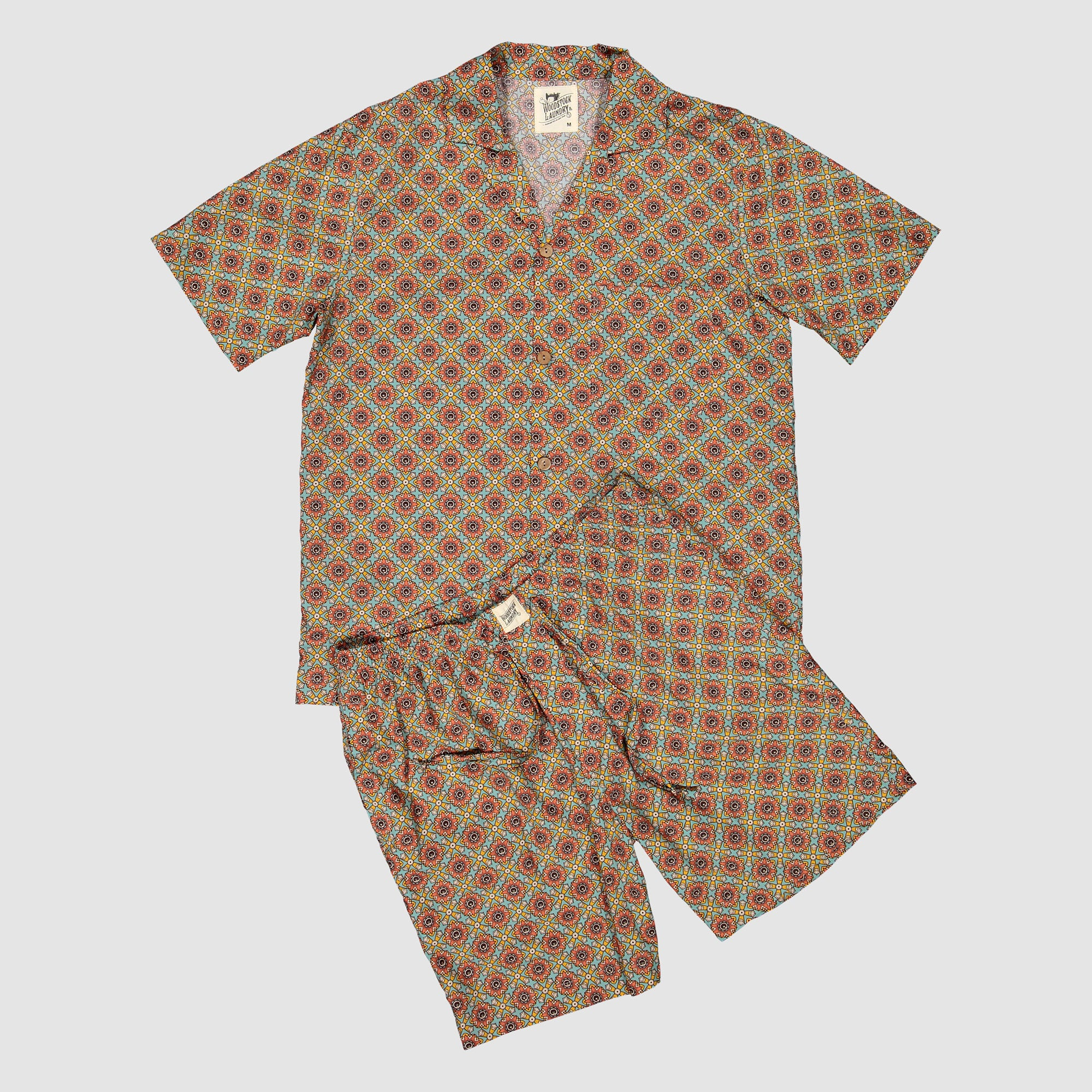 Mens Short Pyjamas Funky Disco | Woodstock Laundry