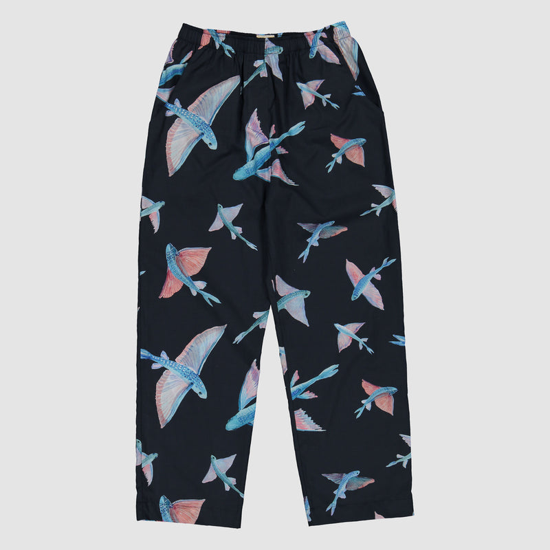 Boys Long Pyjamas Flying Fish Black - Woodstock Laundry