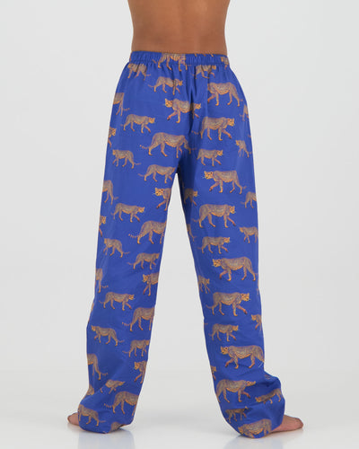 Kids Unisex Lounge Pants - Blue Cheetahs