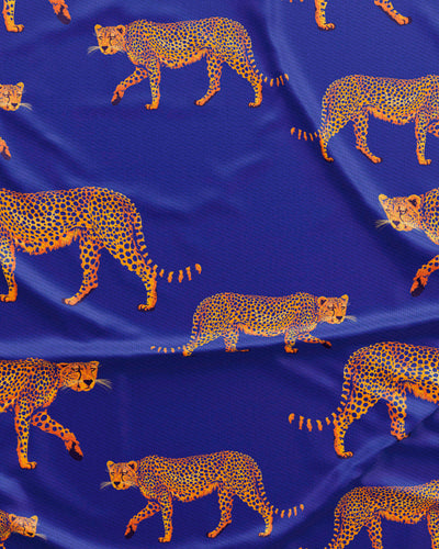 Blue Cheetahs Pattern Detail - Woodstock Laundry