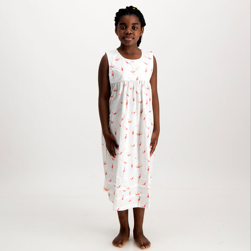 Girls Nighty Divers White