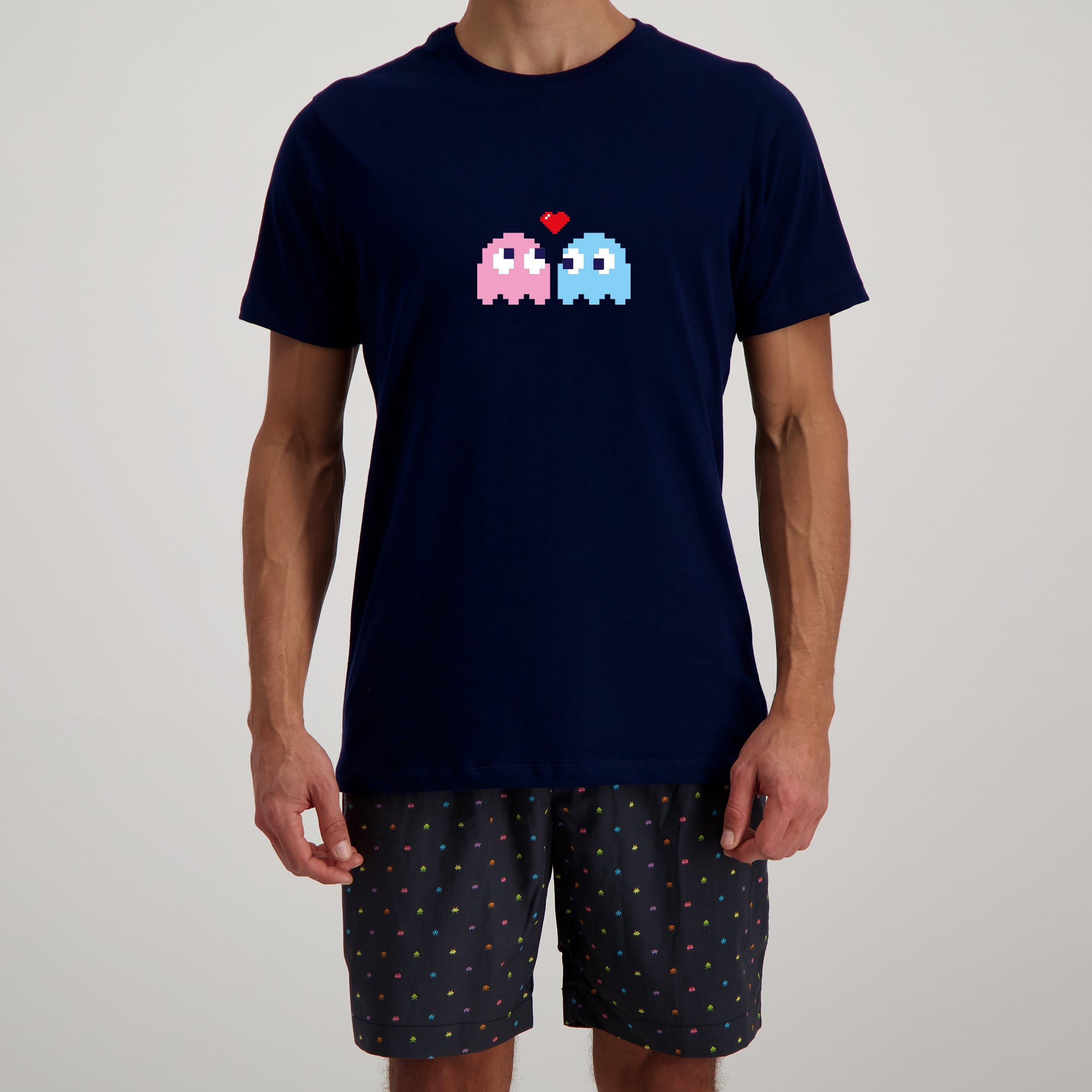 T-Shirt Navy with P-Ghost - Woodstock Laundry