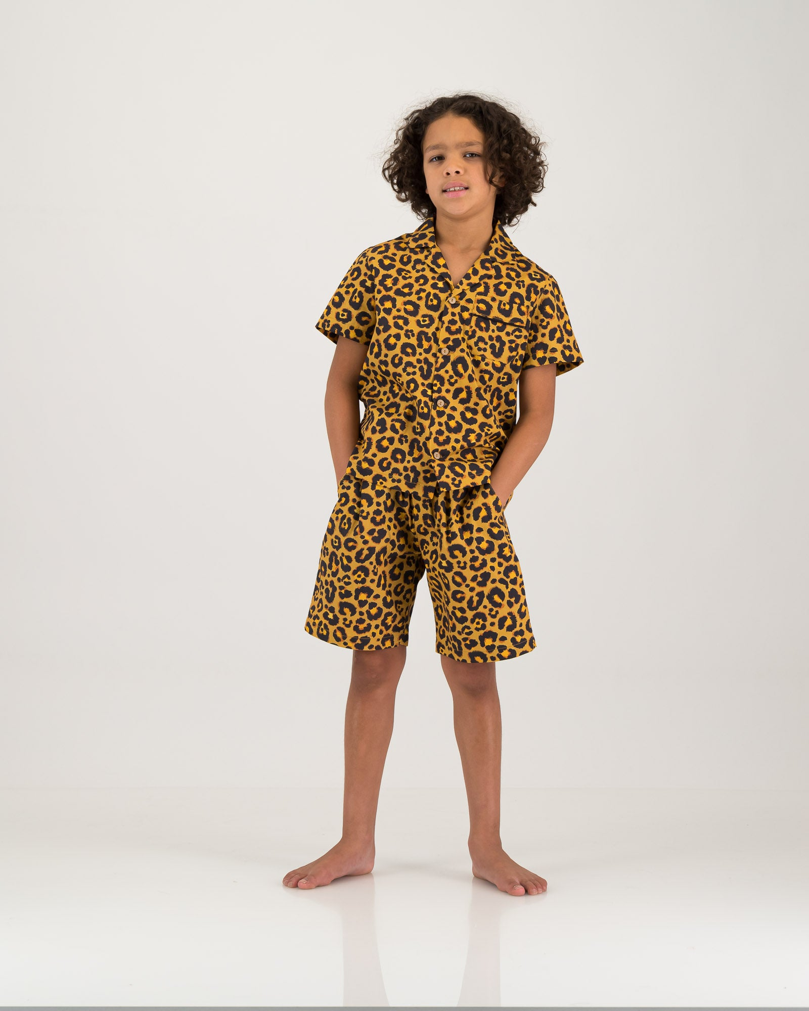 Boys Short Pyjamas Leopard Skin