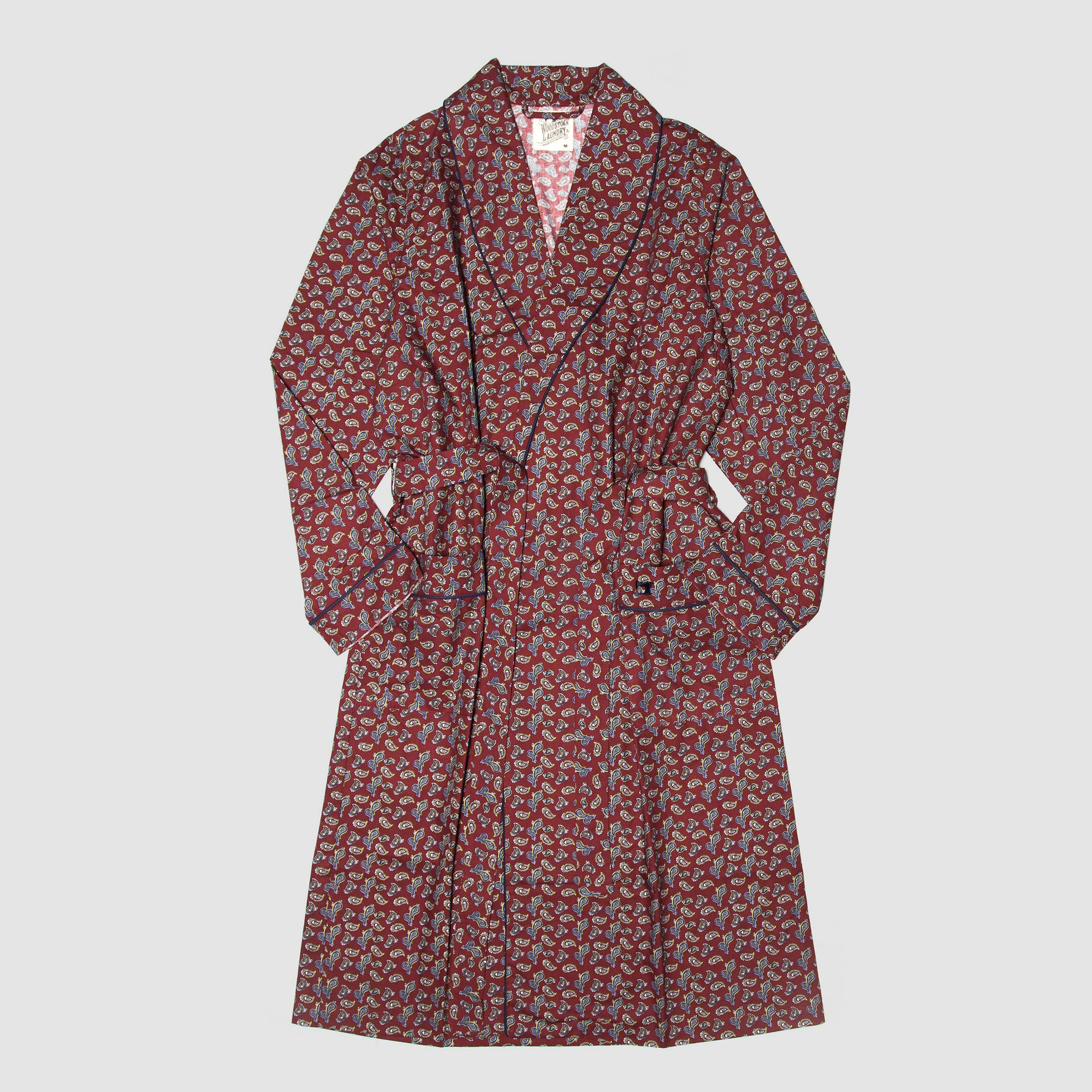 Gown Paisley Park Maroon - Woodstock Laundry