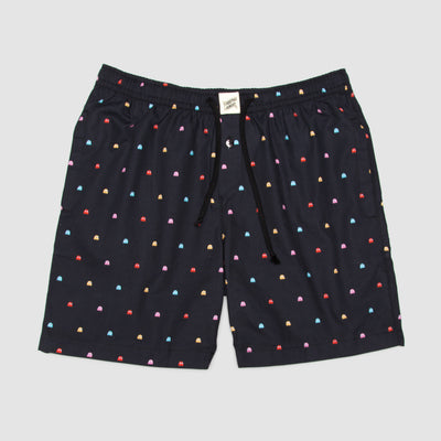 Lounge Shorts P-Ghost Black - Woodstock Laundry