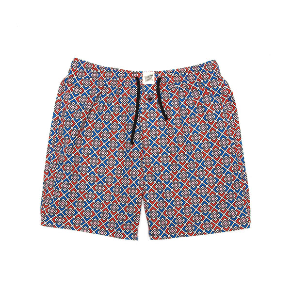 Lounge Shorts Retro Geometric - Woodstock Laundry