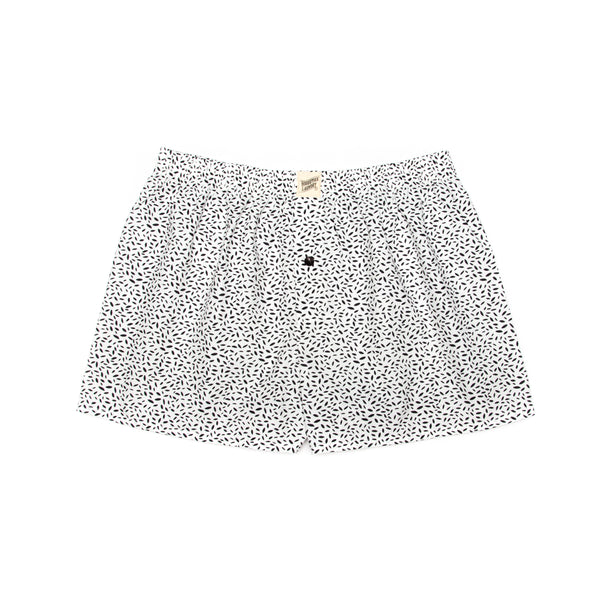 Boxer Shorts Scatter Leaf Black