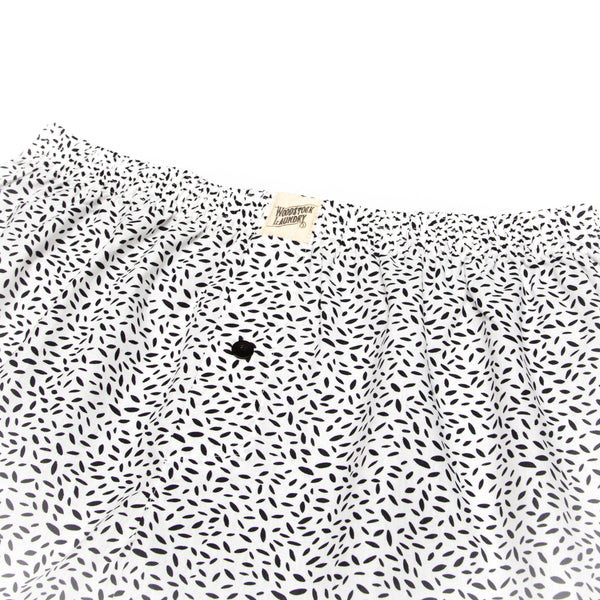 Boxer Shorts Scatter Leaf Black - Woodstock Laundry
