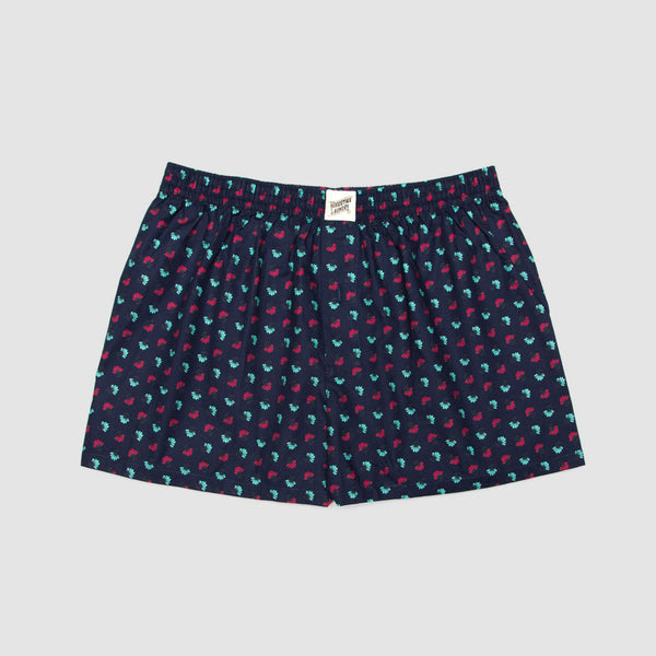 Boxer Shorts Fan Flowers Navy - Woodstock Laundry