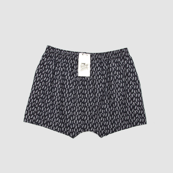 Boxer Shorts Feather Leaf Black - Woodstock Laundry