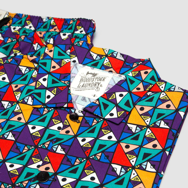 Short Pyjamas Ndebele Bright - Woodstock Laundry