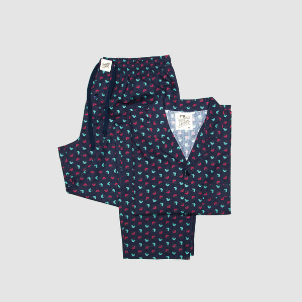 Pyjamas Fan Flowers Navy - Woodstock Laundry