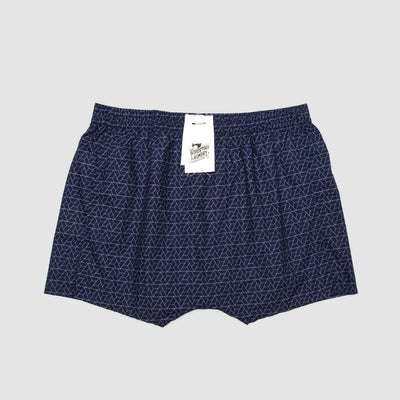Boxer Shorts Tri Geometric Navy - Woodstock Laundry