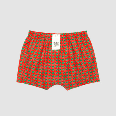 Boxer Shorts Tri Geometric Red - Woodstock Laundry
