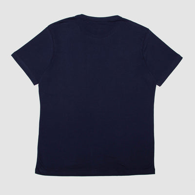 T-Shirt Navy With Natural Typo | Woodstock Laundry
