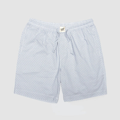 Mens Lounge Shorts Scales White - Woodstock Laundry