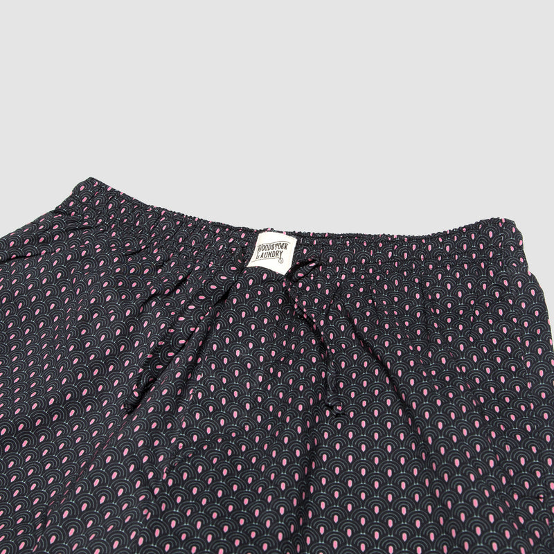 Mens Lounge Shorts Scales Charcoal - Woodstock Laundry