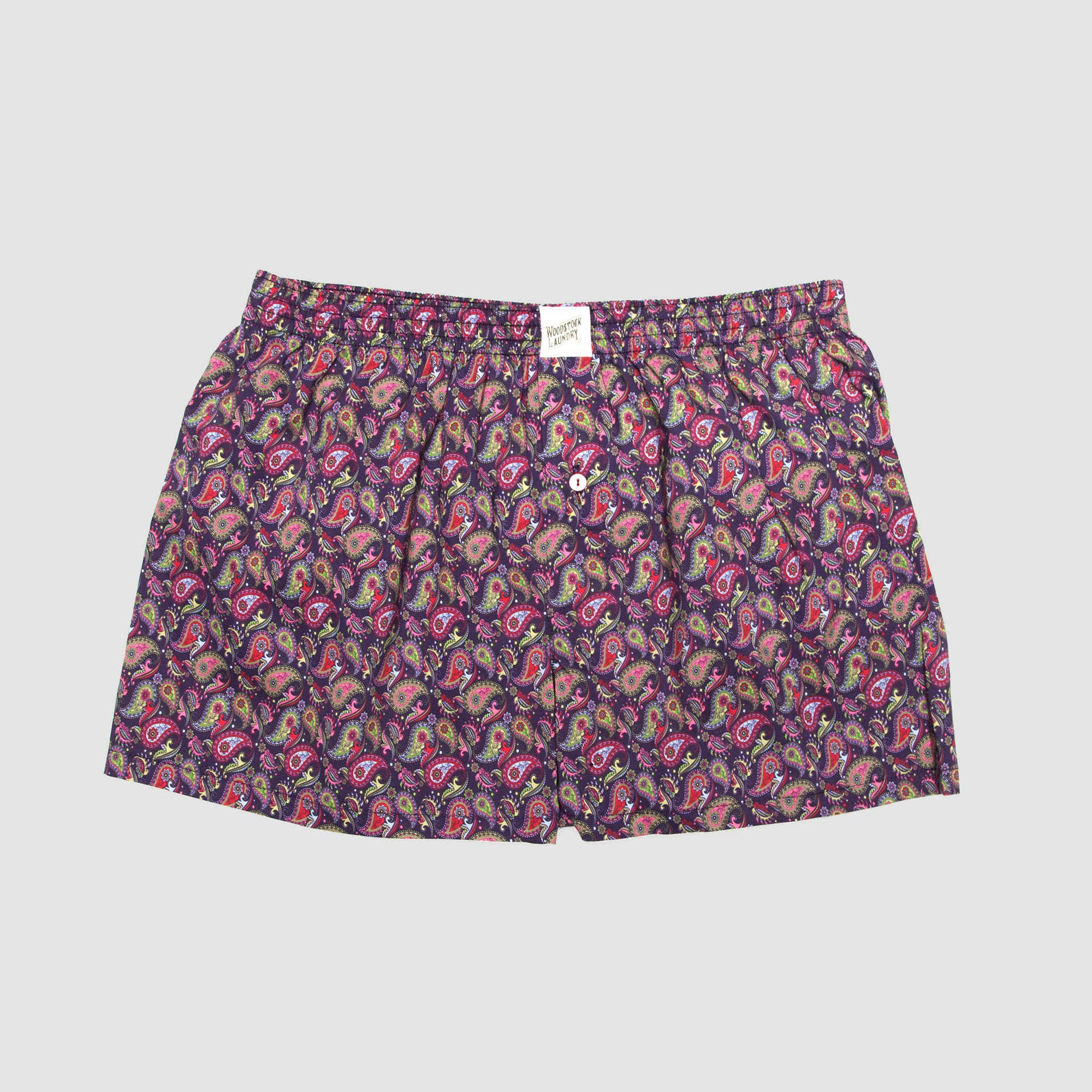 Mens Boxer Shorts Paisley Bright - Woodstock Laundry