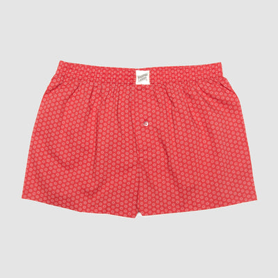 Mens Boxer Shorts Stars Red - Woodstock Laundry