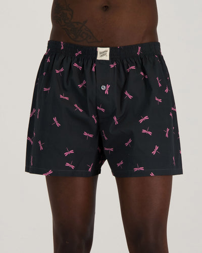 Mens Boxer Shorts - Dragon Flies