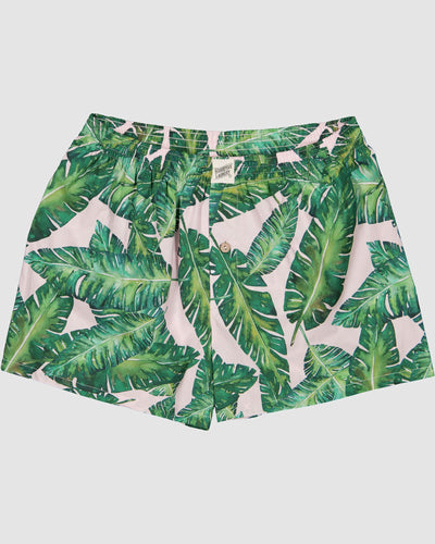 Mens Boxer Shorts Banana Leaves Flatpack - Woodstock Laundry